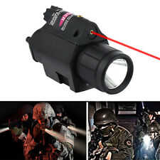 Red Laser Sight LED Mounted Flashlight Tactical Airsoft Torch Light Combo USA