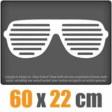 Raver Shutter Brille  chf0324 weiß 60 x 24 cm Heckscheibenaufkleber Scheibe Auto
