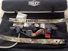 "Hoyt Satori Recurve Bow 19"" Black Riser RH 45# Medium Sub Alpine Limbs 62"""