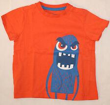T-Shirt in orange mit Monstermotiv, wie neu Impidimpi Kurzarmshirt Größe 74 - 80