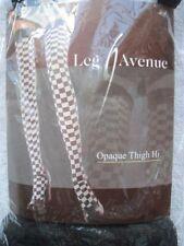 Leg Avenue Opaque Black White Checkered Thigh High Nylon Polyester One Size