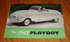 Original 1948 Playboy Car Foldout Sales Brochure Folder
