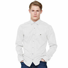 NEW MENS LACOSTE WHITE OXFORD SHIRT size 44  RRP £105