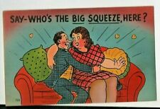 comic postcard: The Big Squeeze