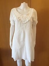 Ishka-White Cotton Dress-Size L