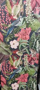 Jungle Fever, Monkeys/Birds/Frogs Textured Wallpaper
