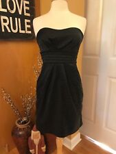 SNAP Black Leopard Cocktail Dress with Bow &  POCKETS!!! - SZ 7 - FREE SHIPPING