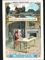 IMAGE CHROMO CHOCOLAT POULAIN / CHATEAU de SULLY-sur-LOIRE / Ecrivain VOLTAIRE
