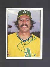 Jim Todd Oakland Athletics 1975 SSPC Autographed Baseball Card W/COA