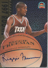 Reggie Freeman 1997 The Score Board rookie RC autograph auto card
