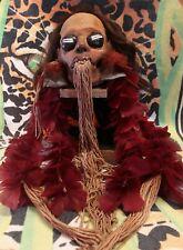 Museum Quality Mundurucu Trophy Head Replica, Severed Head, Shrunken Head, Skull