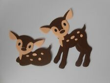 PK 2 BABY DEERS EMBELLISHMENTS FOR CARDS AND CRAFTS