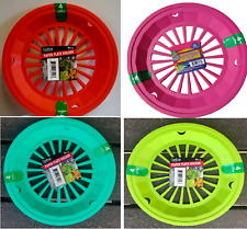 "Plastic 9"" Paper Plate Holders Set of 4 PICNICS,BBQ,CAMPING $7.64 FREE SHIPPING"