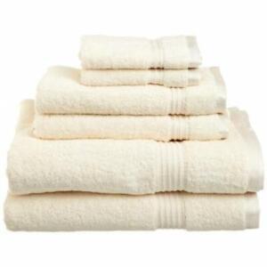 Superior Egyptian Cotton 6-Piece Towel Set Ivory