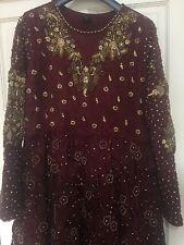 Vestido Marrón Damas asiático-tamaño 18-20