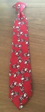 Boys Red Christmas Santa Clip On Neck Tie Pre Owned