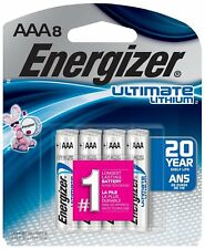 8 Energizer Ultimate Lithium AAA L92SBP-8 Batteries 2037
