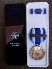 GENUINE NATO MEDAL NON ARTICLE 5 BALKANS IN NAMED BOX OF ISSUE - POST JAN 2011