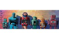 Robots Caught Again Lineup by Eric Joyner Art Print Mural Poster 36x54 inch