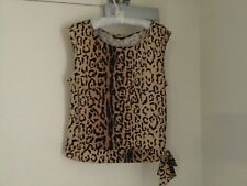 Top Leopard Very Stretchy Polyester/Elastane Sleeveless Size 14 Charlie Brown