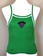 Vintage Adorence Junior Women Size Small Green Sleeveless Sweater Tank Ribbed
