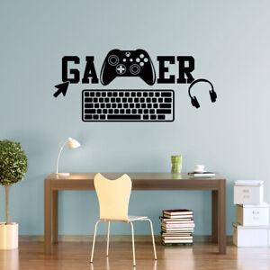 Gaming Gamer Keyboard Wall Sticker Vinyl Decals Gaming Zone Gamers Xbox GK3