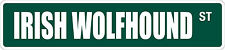 "*Aluminum* Irish Wolfhound 4"" x 18"" Metal Novelty Street Sign Ss 1786"