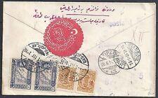 Turkey 1917 backside franked R-cover Vom Auslande über Bahnpost