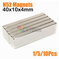 Lots 40x10x4mm Big Strong Block Bar Fridge Magnets Rare Earth Neodymium N52
