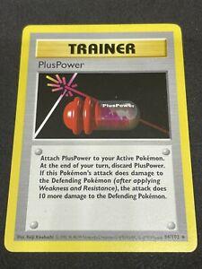 Shadowless PlusPower Base 84/102 NM WOTC Pokemon Card