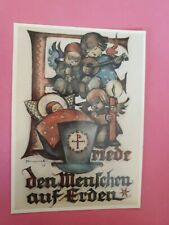 Hummel Postcard 62.1491, ILLUMINATED LETTER, ars edition, West Germany, Rare