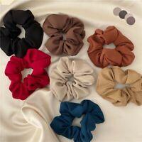 Women Elastic Hair Band Elegant Solid Hair Scrunchies Hair Tie Accessories