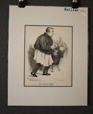 """Lithografie """"Englischer Kellner, Waiter"""",von Pobuda,Rees & Cie nach F.Elias 1835"""