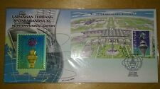 1998 Malaysia Royal Selangor Limited NIOBIUM Pewter KLIA Airport MS Stamp FDC