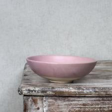 Beetroot Pink Pasta Bowl, Clay Ceramic Shallow Soup Dessert Rustic Dinnerware