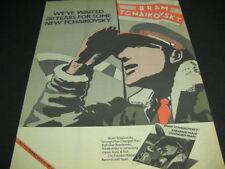 BRAM TCHAIKOVSKY 150 Years Of Waiting 1979 PROMO POSTER AD Strange Man Changed