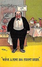 POSTCARD  COMIC  Fat    Waiter  Diner  We've  a fine front  here