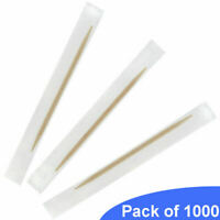 1000 BarBits Wooden Toothpicks - Individually Wrapped Disposable Cocktail Sticks