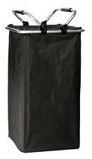 Wäschekorb, Wäschetonne, Wäschebehälter, schwarz, XXL