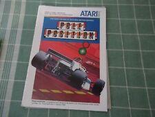 Pole Position Atari 5200 Manual ONLY