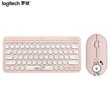 Logitech K380 Cony Brown Keyboard Pebble Mouse Bluetooth Wireless Set Original