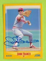 1988 Score In Person Auto -   John Franco (#535)   Cincinnati Reds