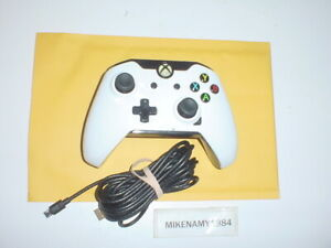 WHITE CAMO WIRED XBOX ONE Wired controller - Tested & Works Great