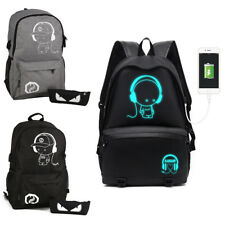 New Noctilucent Anti-Theft Backpack Luminous Casual School Bag With USB Charger