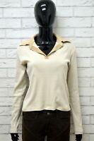 Maglia TRUSSARDI SPORT Donna taglia Size XL Maglia Maglietta Polo Blusa Colletto