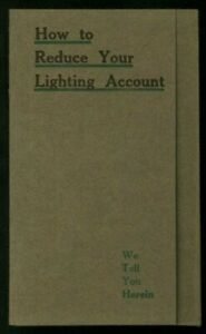 1913 ~OSRAM Light Globes Advertising Brochure