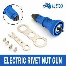 Blue Electric Riveter Adapter Rivet Insert Nut Cordless Drill Riveting Gun Tools