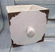 "Holz-Schublade""12x12x12cm*Shabby*Landhaus*Deko*Vintage*weiß*Pflanztopf*Übertopf"
