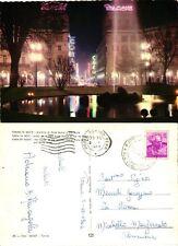 CARTOLINA POSTCARD V.TA 88 TORINO DI NOTTE - PORTA NUOVA E V. ROMA (09.10.1962)