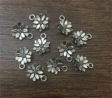 Wholesale 16pcs Tibetan silver Sun Flower Charm Pendant beaded Jewelry Findings